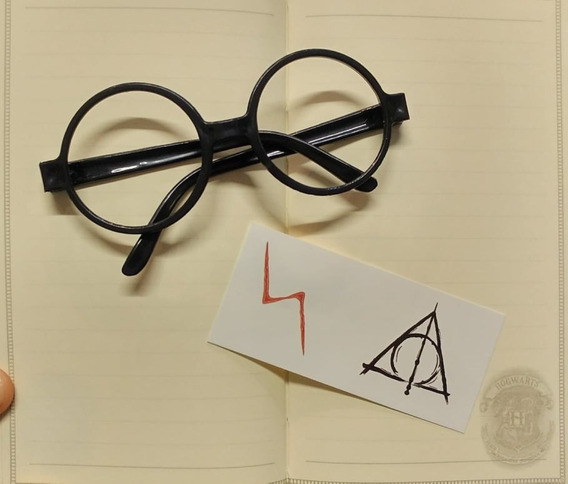 Lentes Gafas Harry Potter Tatuajes Fiesta Disfraz (sin Bpa)