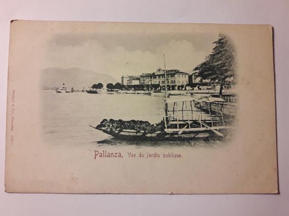 Antigua Carta Postal Pallanza Vue Du Jardin Publique