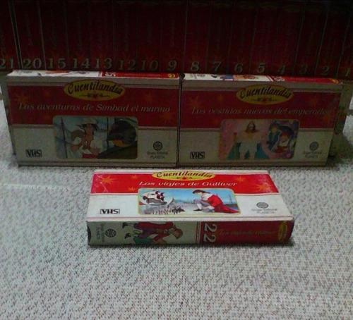19 Cassettes Vhs De La Colección Infantil Serie Cuentilandia