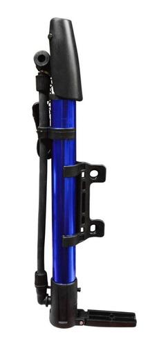 Inflador De Mano Con Soporte Para Bicicleta Colores Ht80174