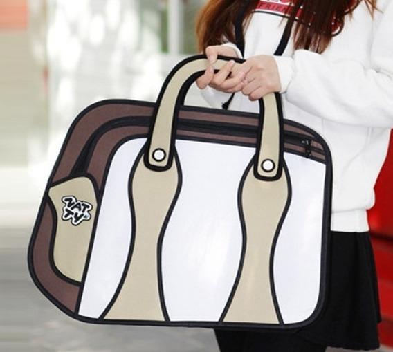 Bolso Cartera Diseño 2d 3d Cartoon Bag Handbag Importada 19