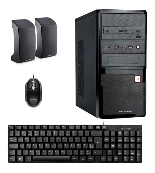 Computador Desktop Dt004 4gb Ram Intel Dual Core Multilaser
