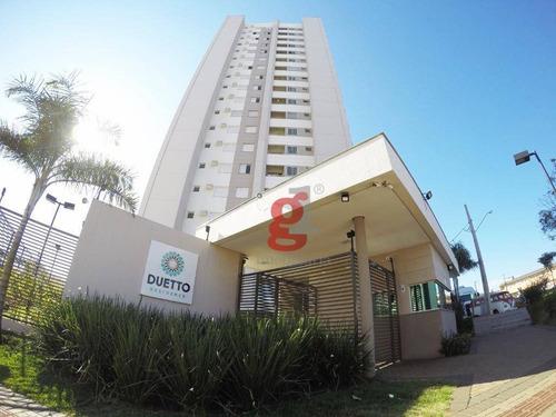 Apartamento Com 3 Dormitórios, 63 M² - Venda Por R$ 315.000,00 Ou Aluguel Por R$ 1.300,00/mês - Jardim Morumbi - Londrina/pr - Ap0203