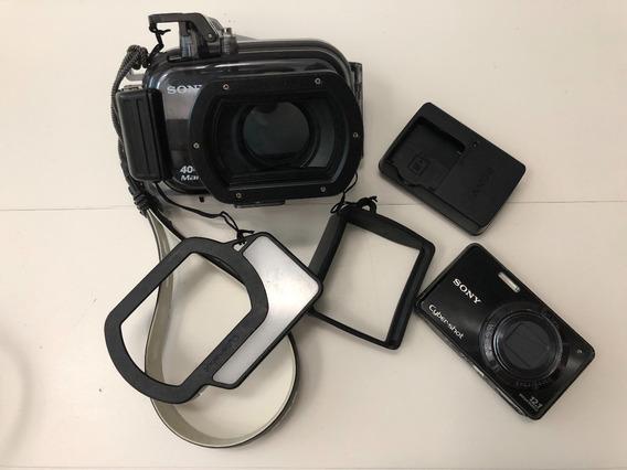 Sony Dsc-w290 12mp+caixa Estanque Mpk-web P/vários Modelos.
