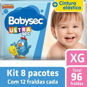 Kit Fralda Babysec Galinha Pintadinha Ultrasec Xg - 96 Unids