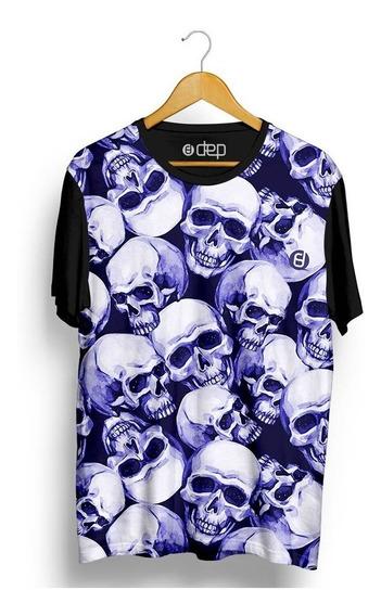 Camiseta Dep Caveiras Roxo