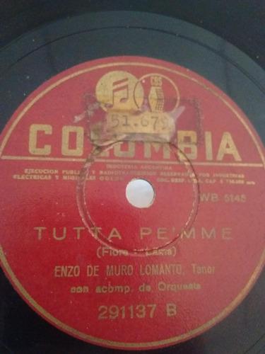Enzo De Muro Lomanto Disco Pasta Columbia 291137 C27