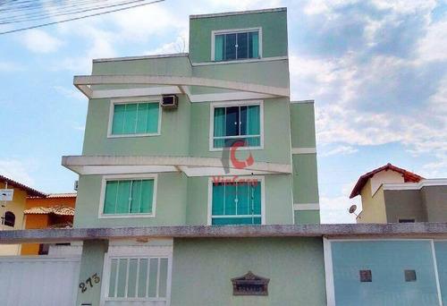Apartamento Com 2 Quartos Sendo 1 Suíte À Venda, 75 M² Por R$ 250.000 - Recreio - Rio Das Ostras/rj - Ap0851