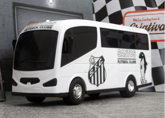 Miniatura Viatura Micro-ônibus Santos - Time De Futebol
