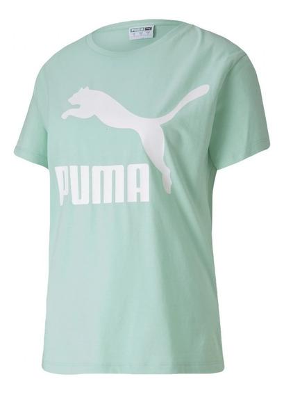 Remera Puma Classics Logo Ver De Mujer