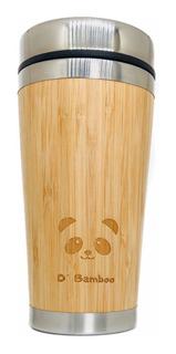 Termo Acero Inoxidable Y Bambú Vaso Termico 450 Ml