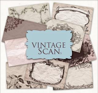 Kit De Papel Digital Etiquetas Tags Vintage Gris Rosa Negro
