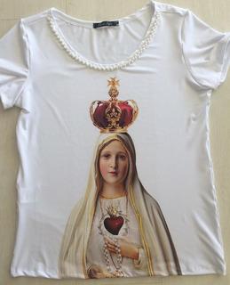 T-shirt Feminina Nossa Senhora De Fátima Moda Católica