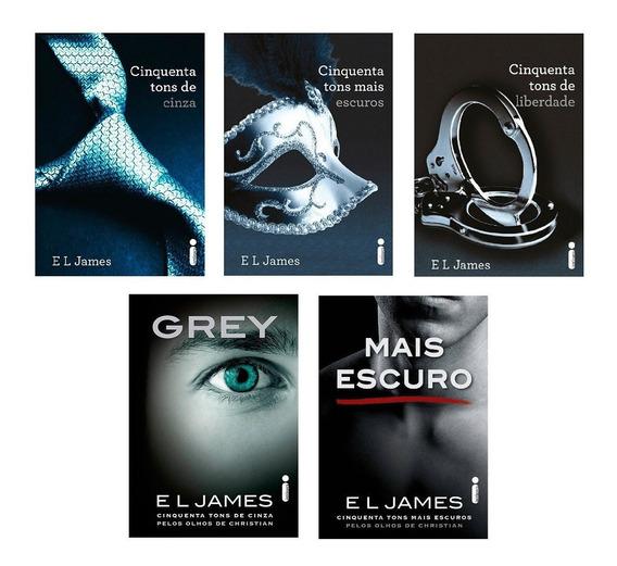 Kit Trilogia Cinquenta Tons De Cinza + Grey (5 Livros) #