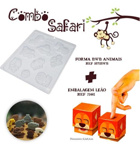 Imagem 1 de 1 de 10 Caixas Leao Safari Dia Das Crianças + 1 Forma Bwb