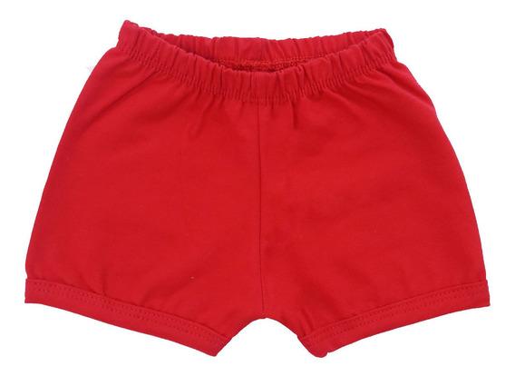 Kit 3 Shorts Para Bebê 100% Algodão Todos Tamanhos E Cores