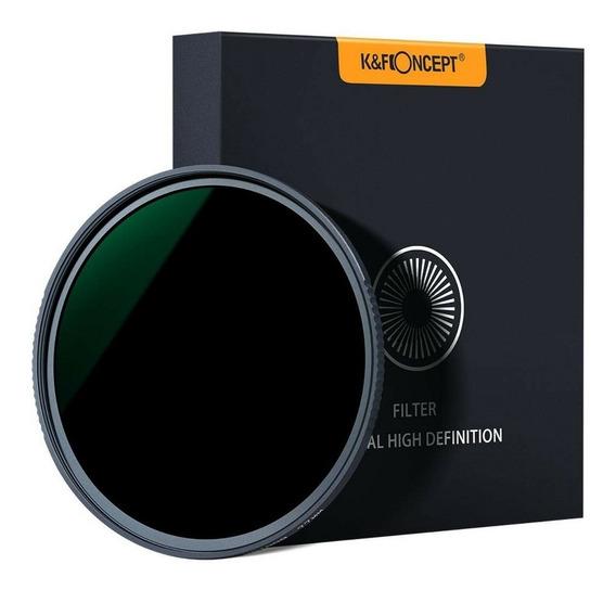 Filtro K&f Nd1000 10 Stop Compatível C/ Qualquer Lente 77mm