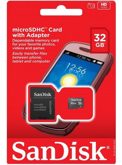 Memória Card Micro Sd32gb Sandisk !