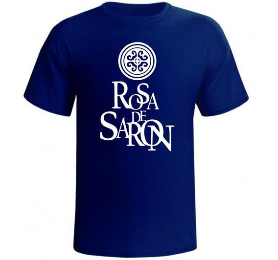 Camiseta Banda Rock Rosa De Saron Gospel Cristã Camisa