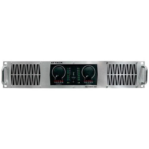 Amplificador De Potencia 1200w 4 Ohms Pp 2002 - Attack 12x