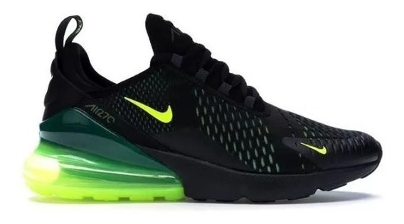 Tênis Air Max 270 Black/volt-black-oil Original