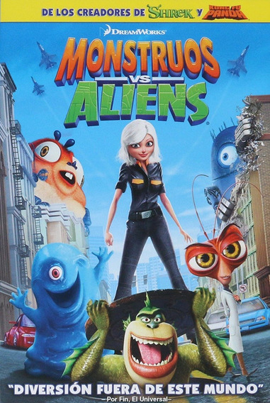 Monstruos Vs Aliens Pelicula Original Dvd