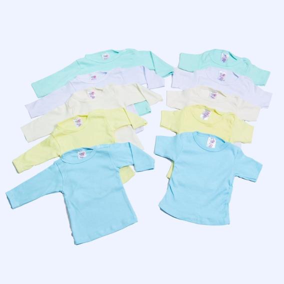 Kit Roupas De Bebê Camisetas 10 Pçs Menino Ou Menina