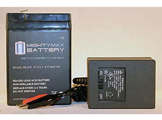 Mighty Max Battery Batería Ml4-6 - 6v 4.5ah