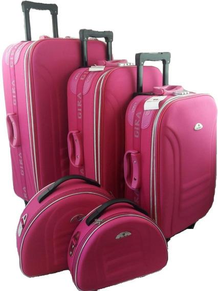 Mala De Viagem Kit Com Rosa Promoção Rose Frete Gratis Br