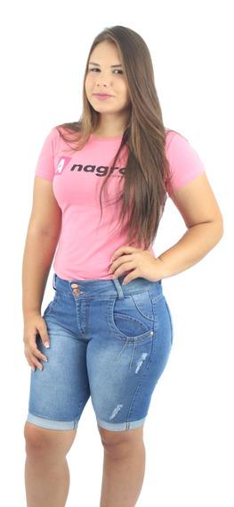 Bermuda Jeans Feminina Com Lycra Short Pedal Escolha As Suas