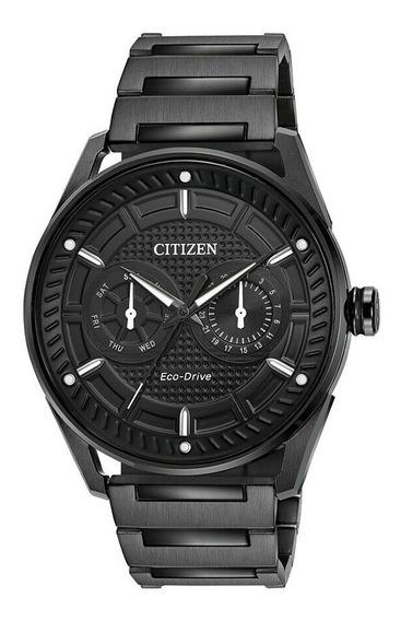 Relógio Citizen Eco-drive Cto Preto 42 Mm Vitrine Excelente