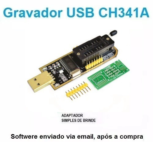 Gravador Usb Flash Eprom Spi Bios Series 24xx 25xx