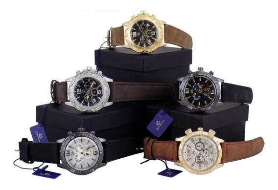 Kit 5 Relógios Masculinos + Caixa E 3 Meses De Garantia