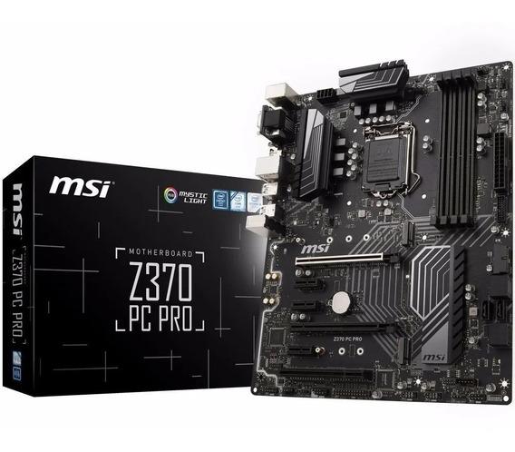 Placa Mãe Msi Z370 Pc Pro Ddr4 Rgb Intel 1151 Atx 8ª Geração