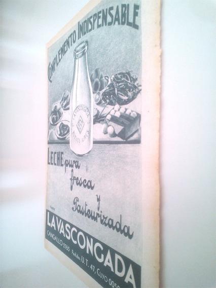 Leche La Vascongada Botella - Antigua Publicidad 1930s