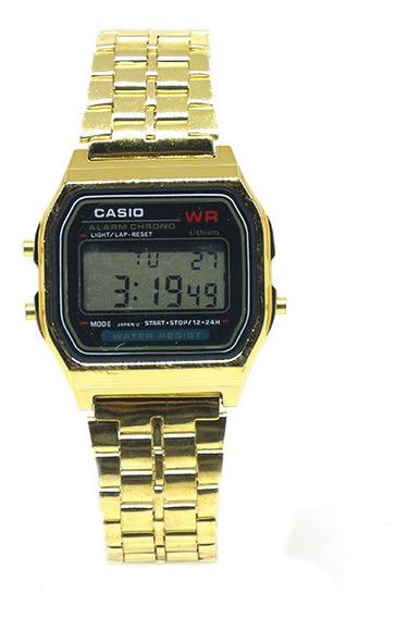 Relógio Digital Casio Dourado Unissex (original)