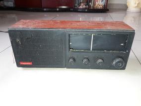 Rádio Antigo Companheiro 4 Faixas Caixa Madeira Leia Descriç