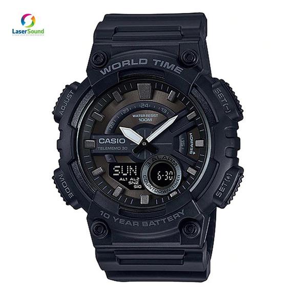 Relógio Casio Masculino Aeq-110w-1bvdf, C/ Garantia E Nf