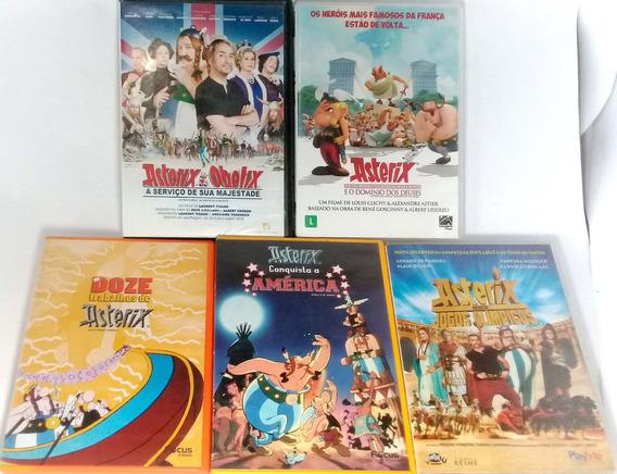 Dvd - Coleçao Asterix - 5 Filmes - Original
