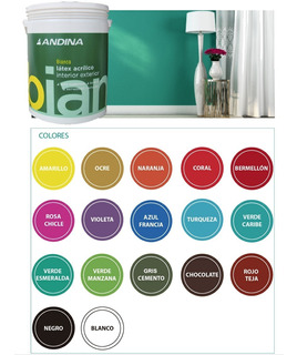 Pintura Latex Interior/exterior Color Andina Bianca 1lt