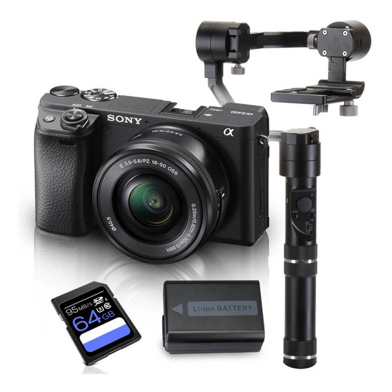 Kit Sony A6400 Mirrorless Com Lente 16-50mm + Crane M + Bate