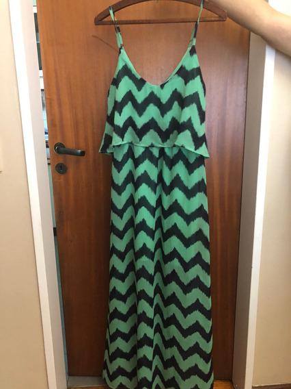 Vestido Largo Importado Importado De Seda Impecable