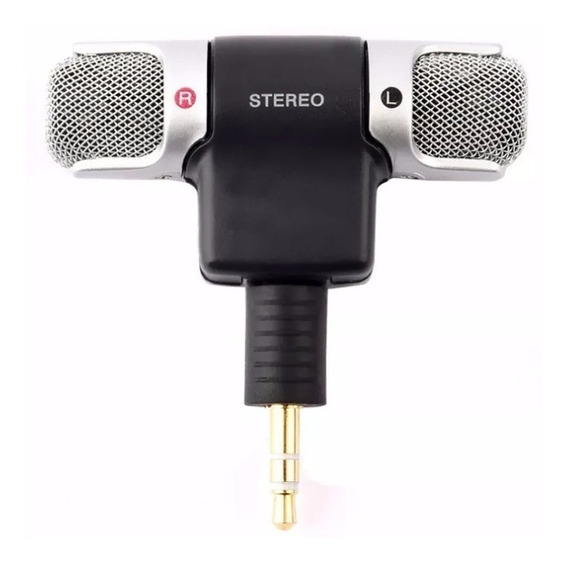 Mini Microfone Stéreo P2 Celular Android iPhone Câmera