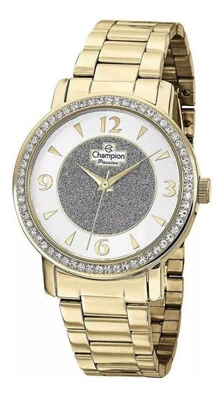 Relógio Champion Original Dourado Feminino Cod101 Promoção