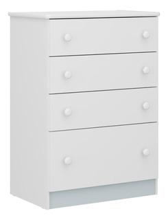Comoda 4 Cajones Blanco/multicolor(rs, Az, Gr, Bl) 2661.0003
