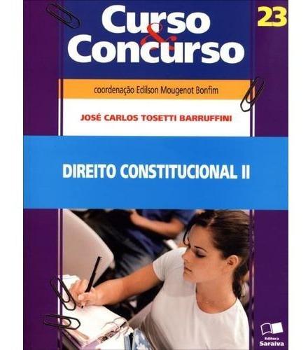 Direito Constitucional I - Curso E Concu Jose Carlos Tosett
