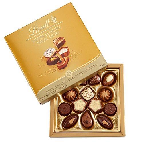 Lindt Swiss Luxury Selection, Chocolate Surtido, Caja De 5.