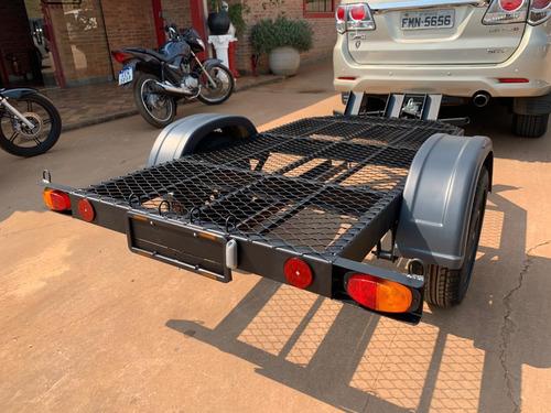 Carreta Reboque Para 2 Motos Bravo Carretas
