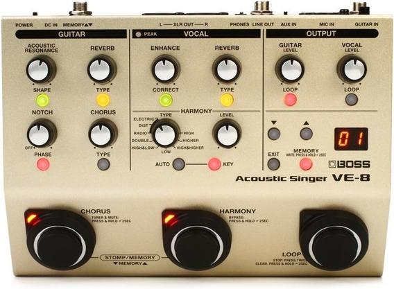 Pedal Profissional Roland Boss Ve-8 Processador Vocal Efeito