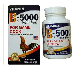 Vitamina Gallos B12-5000 Con Hierro Americana X60 Entrega Ya